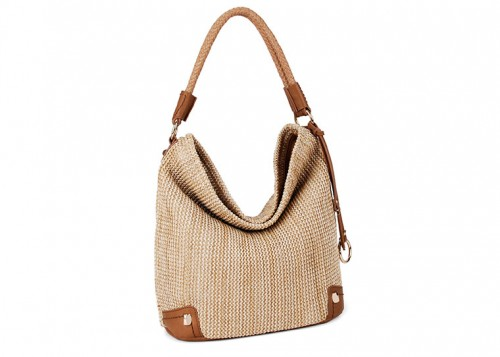 David Jones Weaved Slouch Bag Camel