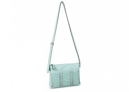 David Jones Weaved Cross Body Handbag Green
