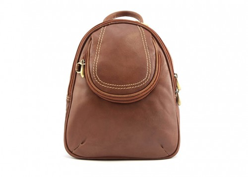 Nova Leather Backpack Tan - Style 902