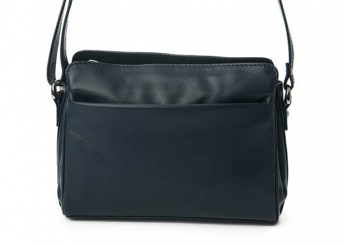 Nova 0576 Leather Shoulder Handbag Navy