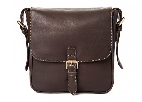 Nova Leather Satchel Handbag Brown Style - 966