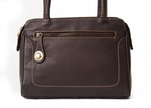 Nova Leather Shoulder Handbag Brown Style - 947