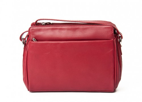 Nova Leather Shoulder Handbag Red 0576