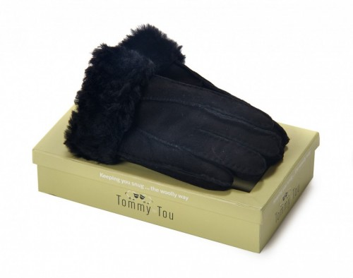 tommy tou gloves black