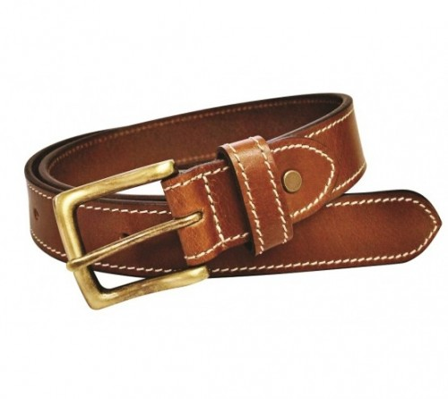 Charles Smith Leather Stitched Belt Tan