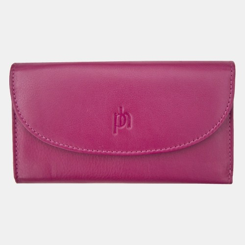 Primehide Leather Slimline Purse Berry 22832