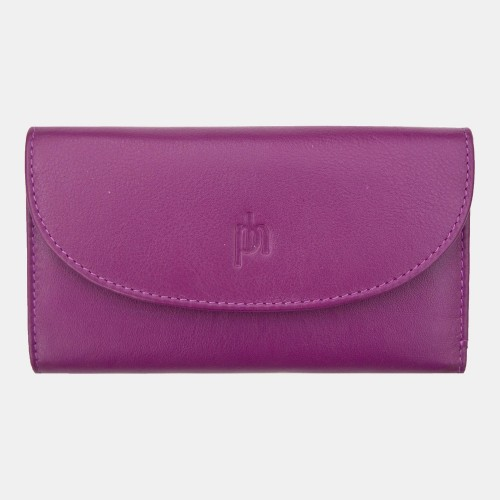 Primehide Leather Slimline Purse Fuchsia 22832
