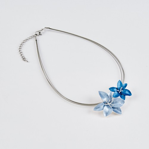 Dante Blue Flowers Necklace