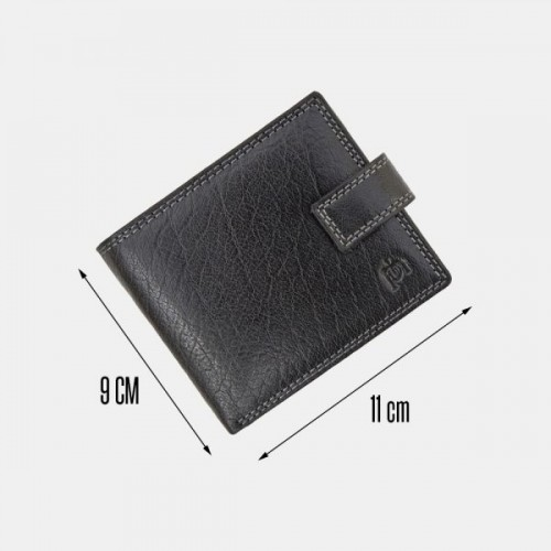 Primehide Leather RFID Wallet Black 4151