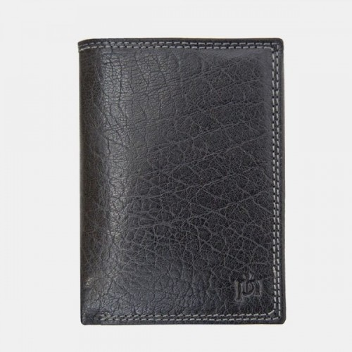 Primehide Leather RFID Trifold Wallet 4153 Black