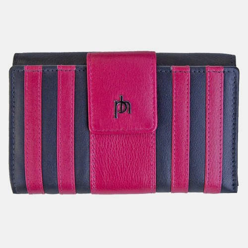 Primehide Rio Stripes Leather Purse Pink 5250