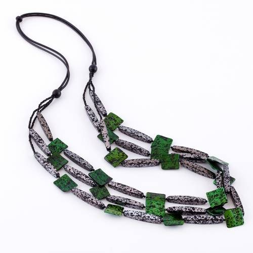 Dante Necklace Long Green Black