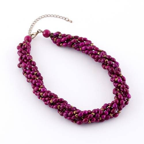 Dante Necklace Pink Beads