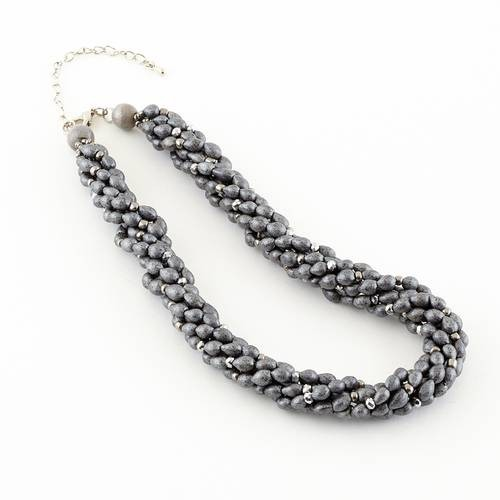 Dante Necklace Grey Cluster