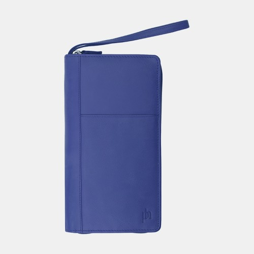 Primehide Leather Travel Wallet Navy 9300