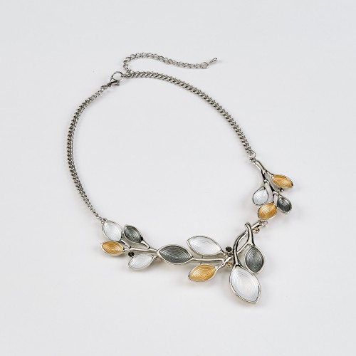 Dante Leaf Necklace Silver