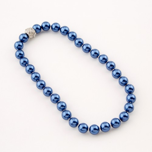 Dante Pearl Necklace Blue