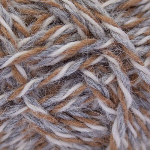 Alpaca Yarn Natural Light Grey, Camel & White Mix