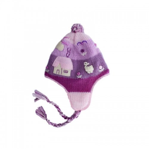 Childrens Alpaca Chullo Pink