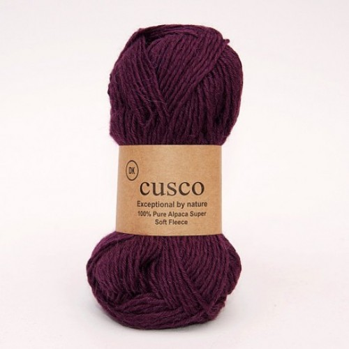 Alpaca Yarn Dyed Dark Purple