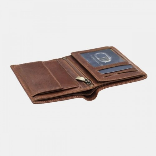 Primehide RFID Kara Upright Wallet Brown