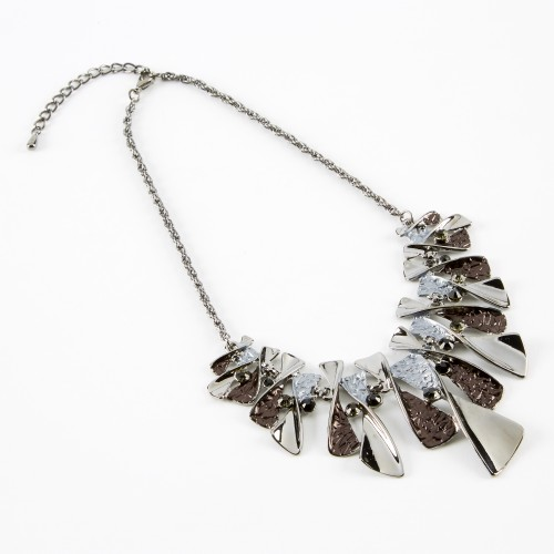 Dante Silver Statement Necklace