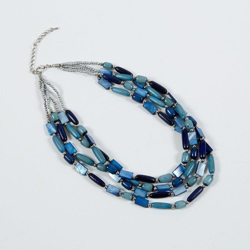 Dante Necklace Mixed Blue Beads