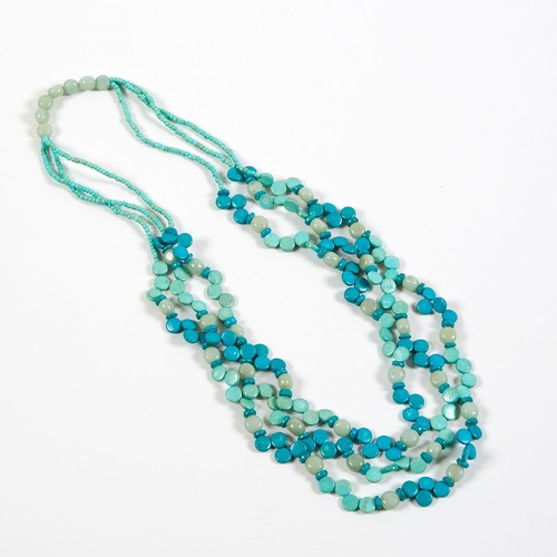 Dante Necklace Mini Beads Turquoise