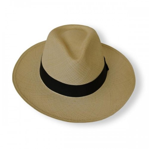 Panama Teardrop Fedora Hat Natural & Brown