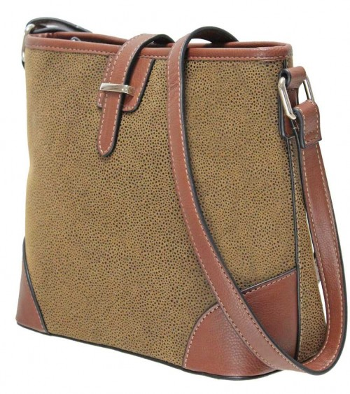 Envy Ash Satchel Bag brown