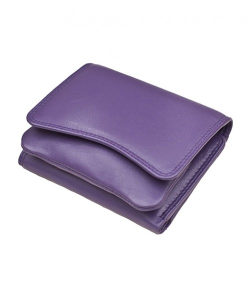 Primehide Soft Touch Small Curve Purse Purple 2316