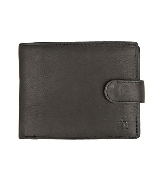 Primehide Leather Tab Wallet Black 5002