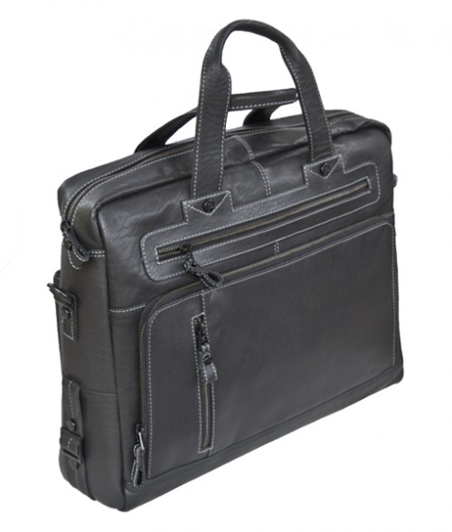 Primehide Leather Briefcase Black 952