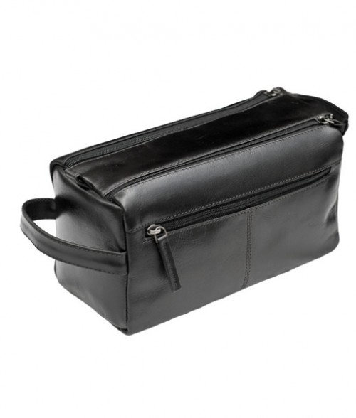 Primehide Washbag Leather Black