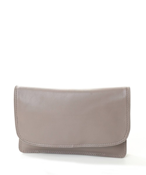 Nova Leather Clutch handbag Taupe Style - 0502E