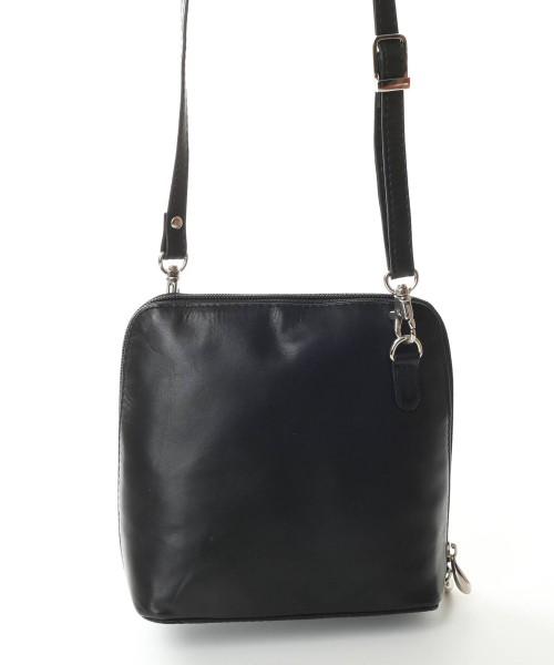 Nova 0559 Real Leather Cross-Body Handbag Black