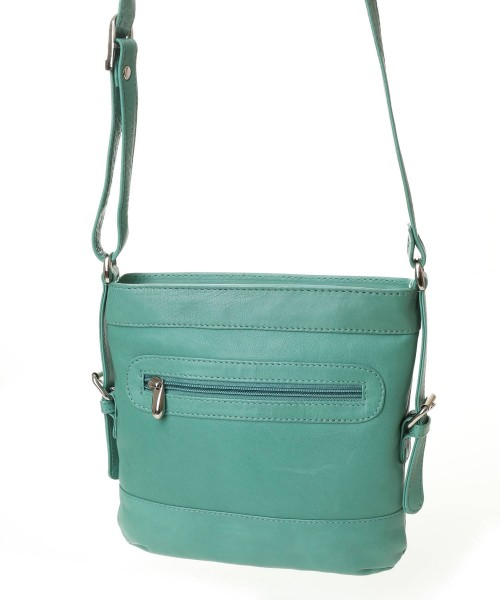 Nova Leather Cross Body Handbag Green Style - 901