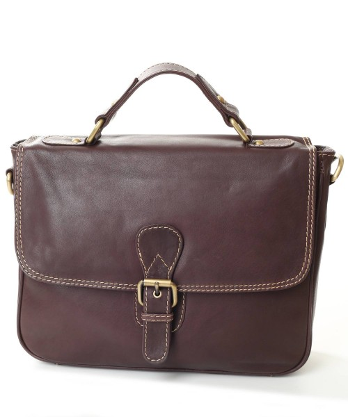 Nova Leather Satchel Handbag Brown Style -934