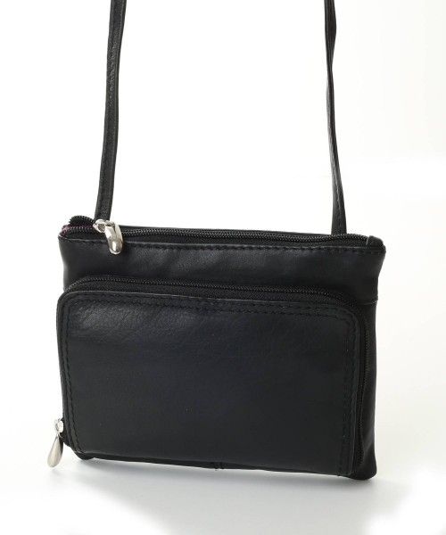Nova Leather Cross Body Handbag Black Style -936