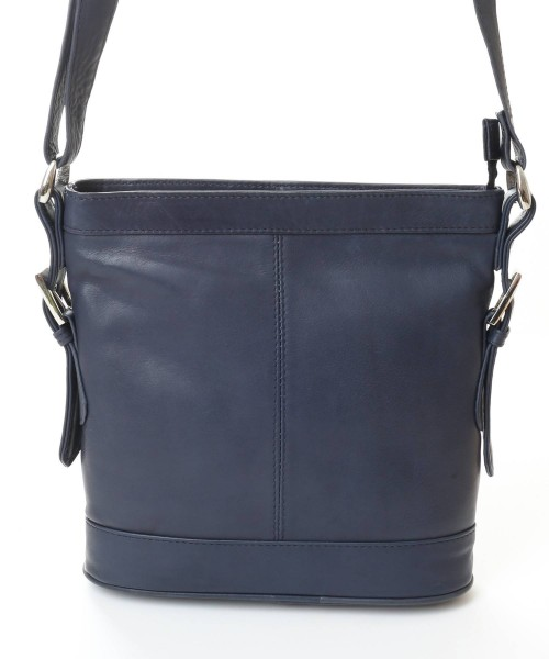 Nova Leather Cross Body Handbag Navy - 974