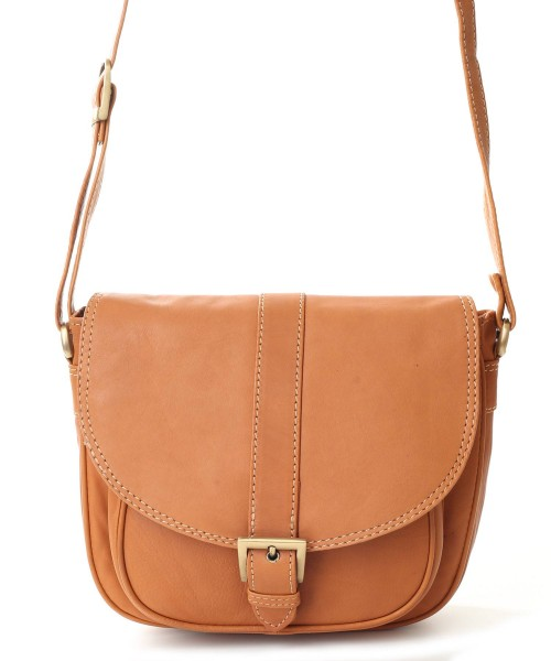 Nova Leather Satchel Handbag Camel Style- 998