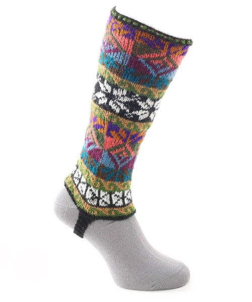 Alpaca Leg Warmers Multi Coloured