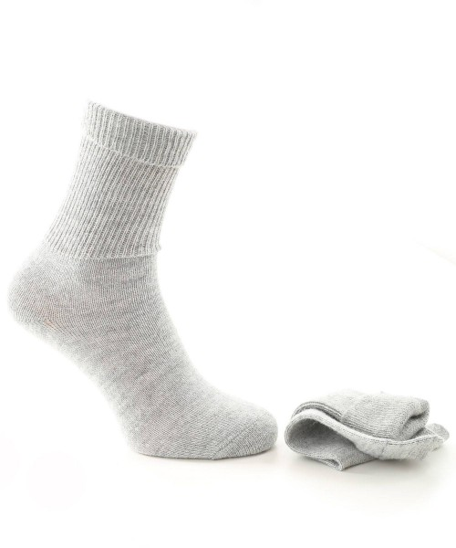Alpaca & Wool Plain Socks Light Grey