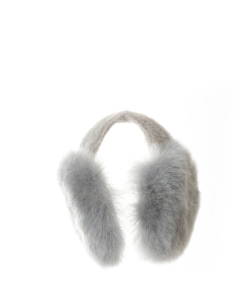 Alpaca Ear Warmers Grey
