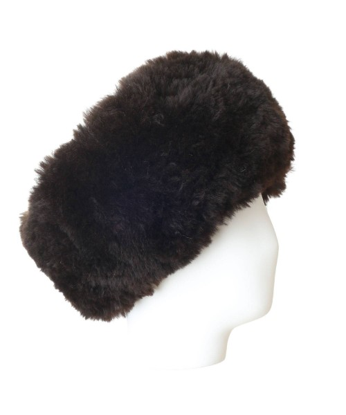 Alpaca Fur Headband Dark Brown