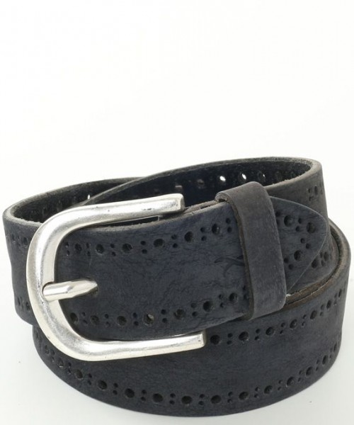 Brax Suede Belt Navy