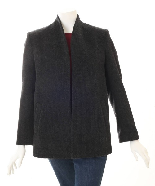 Alpaca Fluted Jacket Charcoal