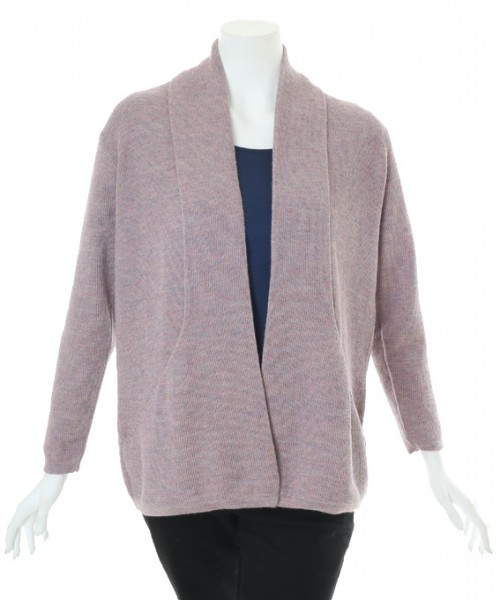 The Alpaca Collection Angelica Cardigan Purple Melange