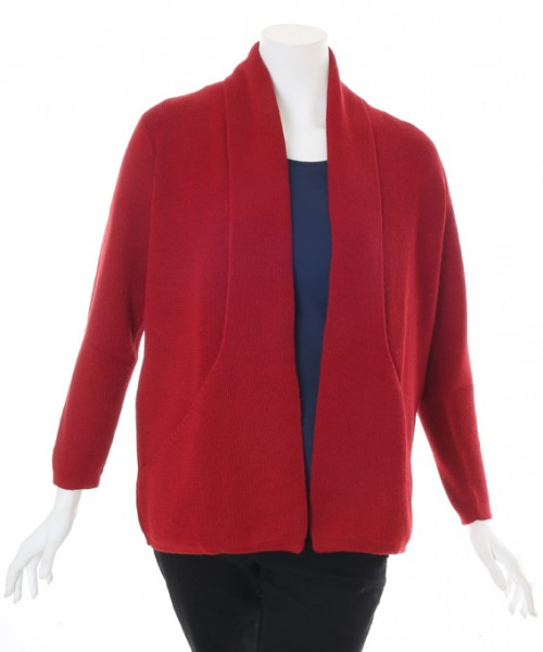 The Alpaca Collection Angelica Cardigan Red