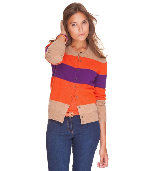 Brax Anna Cardigan Purple Stripe